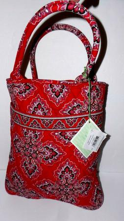 VERA BRADLEY MEDIUM RED QUILTED NWT TOTE PURSE BAG HANDBAG