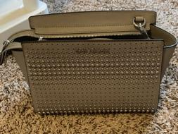 MICHAEL Michael Kors Selma Pearl Grey Gray Stud Medium Messe