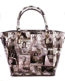 Michelle Obama Glossy Magazine Collage Handbag/Purse/Tote  L