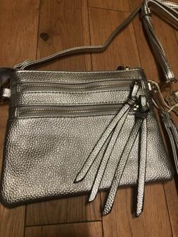 Alyssa Milan New York Vegan Small Silver Gold Crossbody Wris