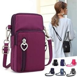 US STOCK  Mini Cross-Body Cell Phone Shoulder Strap Wallet P