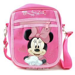 Disney Minnie Mouse Kids Crossbody Side Shoulder Bag Purse f