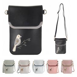 Multi-color Small Cross Body Purse for Women Girls Key Cell