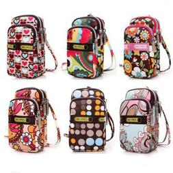 Multi-color Small Cross Body Purse for Women Girls Cell Phon