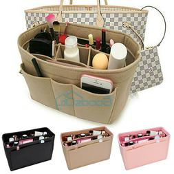 Multi Pocket Felt Bag Organizer Insert Purse Organizer For L
