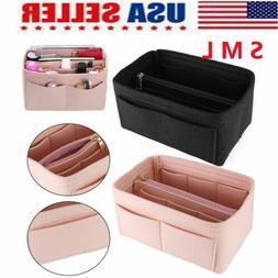 Multi pocket Felt Purse Handbag Organizer Insert Storage Tot