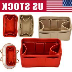 Multi-Pocket Insert Bag Felt Fabric Purse Handbag Bag Liner