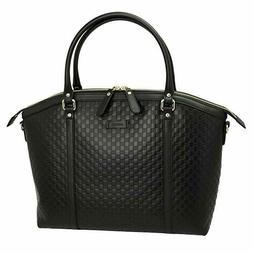 NEW! Gucci 449657 Women's Leather Bag Micro Guccissima Leath