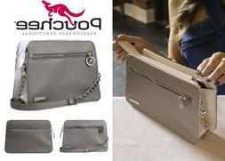 NEW POUCHEE AVI Vegan  Saffiano Leather Purse/Handbag Crossb