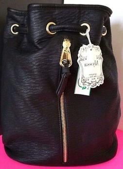 New ALYSSA Backpack Black Synthetic Leather Bag Purse