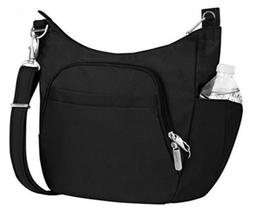 New! Travelon crossbody anti theft Bag purse Black Travel Bu