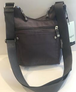 baggallini NEW!!! Crossbody Criss Cross Cohort BAG GREY Purs