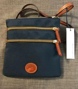 NEW Dooney & Bourke Navy Nylon Triple Zip Crossbody Purse NW