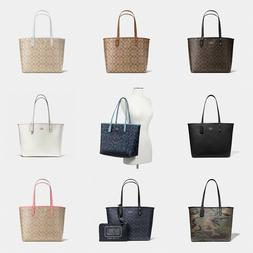 New Coach F36658 Reversible City Tote In Signature Coated Ca