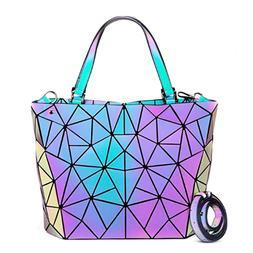 丿New Geometric Luminous Purses and Handbags for Women Holo