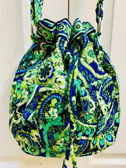 New Vera Bradley Handbag Large Rythem and Blues Shoulder Pur