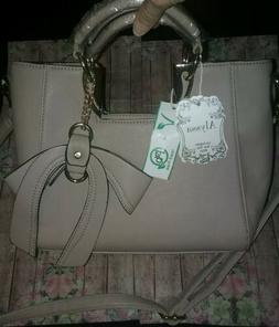 NEW - ALYSSA Neutral Beige Vegan Faux Leather Lead Free Bag