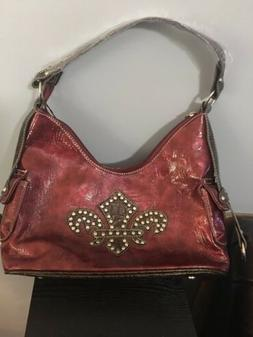 New! P & G Collection Western Theme W/Studs Womens Purse. Bu