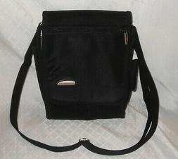 New TRAVELON Purse,Crossbody Organizer,Black Nylon Convertib