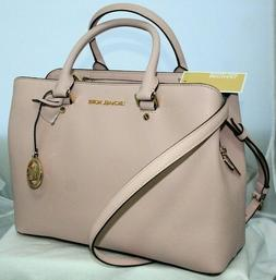 New Michael Kors Saffiano Leather Large Pink Satchel Purse S