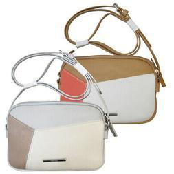NEW Nine West Smooth Blocking Double Zip Crossbody Hand Bag