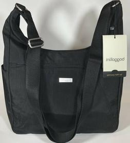 Baggallini NEW!!! VOYAGE HOBO BLACK Crossbody Zip Cargo Purs
