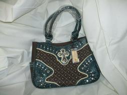 New w/tags ~ P&G Western Embellished Purse/Handbag/Bag~Blue