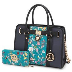 Dasein Women Stylish Handbags Satchel Shoulder Bags Purses w