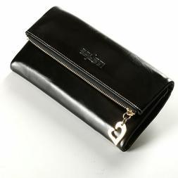 New Women Genuine Waxy Leather Wallet Trifold Long Purse Hea