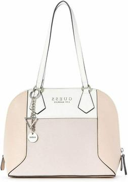 NEW GUESS Women's Cadwell Blush Pink Multi Dome Satchel Hand