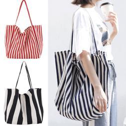 New Women's Canvas Black Handbag Shoulder Messenger Bag Satc
