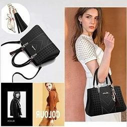New ALARION Womens Designer Purses Handbags Black Large