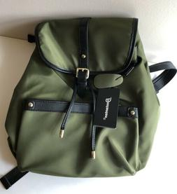 NEW Bostanten Womens Light Weight Backpack Purse Olive Green