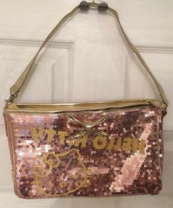 NWOT HELLO KITTY SEQUIN PURSE ROSE GOLD AND GOLD COLOR RARE