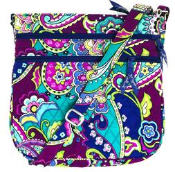 NWOT VERA BRADLEY Triple Zip Hipster Crossbody Bag In Heathe