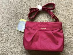 NWT TRAVELON Anti Theft Shoulder Bag Purse Crossbody RED wit