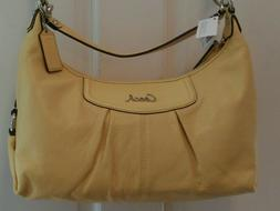 Coach NWT Ashley Canary Yellow Leather Hobo Handbag Purse Sh