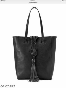 BIG BUDDHA NWT  braided tassel tote black woman's purse