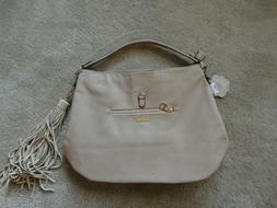 NWT!! COCO + CARMEN LARGE BEIGE SUEDE & VEGAN LEATHER SHOULD