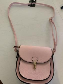 NWT Alyssa Light Pink Crossbody Purse Clutch Bag Fold Over Z