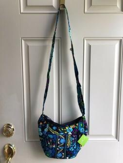 NWT Vera Bradley MIDNIGHT BLUES Clare Crossbody Handbag Purs