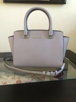 NWT Michael Kors MK Selma MD Saffiano Leather Satchel Handba