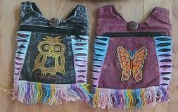 NWT NEPAL FABRIC MESSENGER HIPPIE CROSSBODY PURSE BAG HOBO C