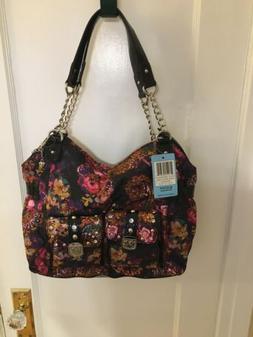 nwt purse floral print large size artistic