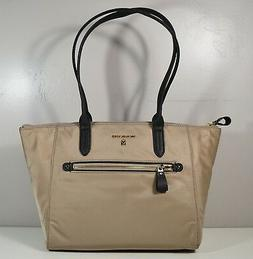 NWT MICHAEL KORS TRUFFLE NYLON KELSEY MEDIUM TZ TOTE PURSE 3