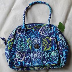 NWT VERA BRADLEY Turn Lock Satchel Katalina Blues Purse Wome