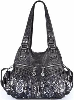 nwt women purse and handbag washed lether