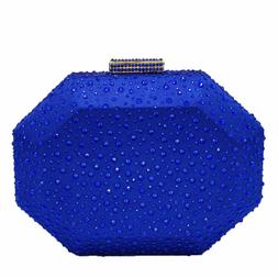 Octagon Shape Women Crystal Clutch Evening Purses and Handba