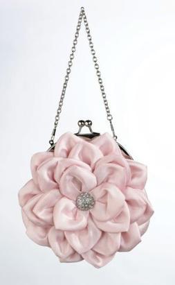 Lillian Rose P408 PI Flower Purse - Pink