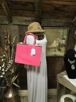 Alyssa Pink  Hand Bag Purse Pocketbook NWT Vegan  Hand And S